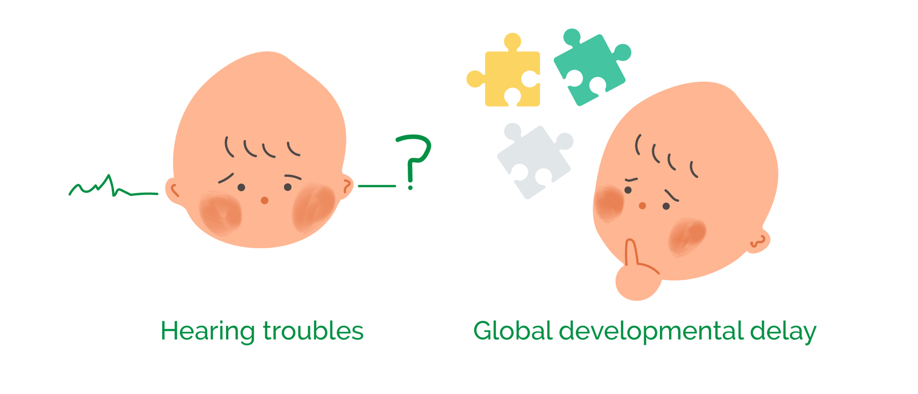Two symptoms of the girl with Infantile cerebellar-retinal degeneration, presented at infancy