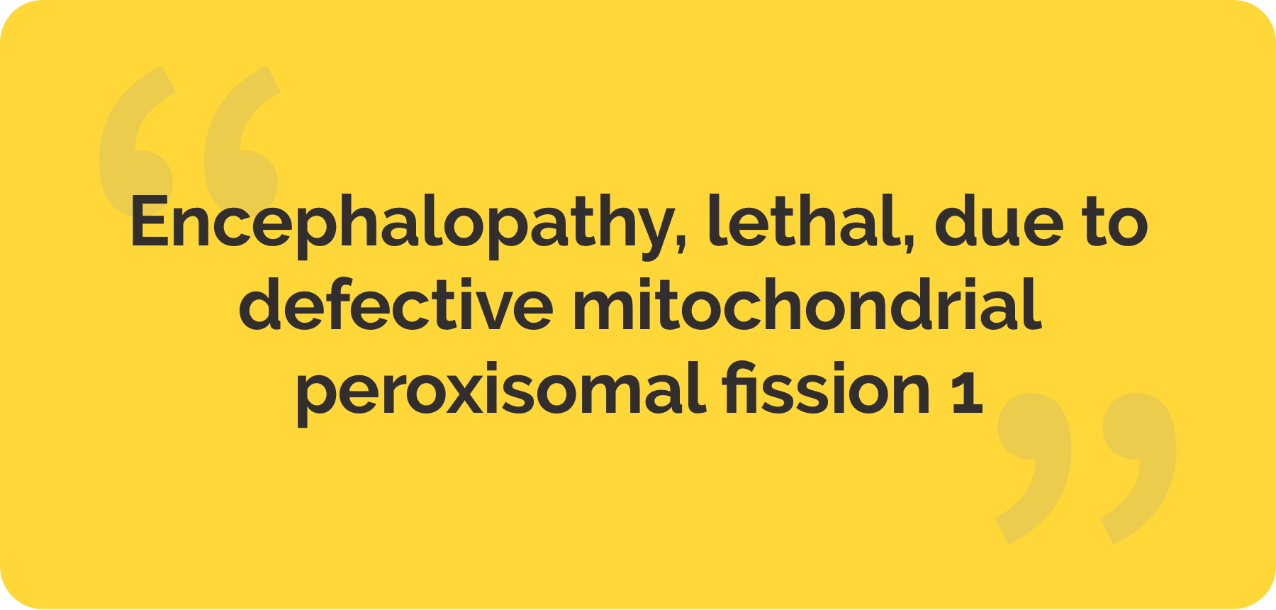 The cover of 'Story of a girl diagnosed with Encephalopathy, lethal, due to defective mitochondrial peroxisomal fission 1'